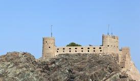 Al加拉利堡垒,马斯喀特 库存照片