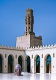 Al哈卡姆清真寺,开罗,埃及尖塔  免版税库存照片