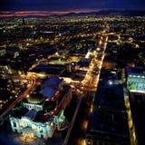 Al城市墨西哥晚上 免版税库存图片