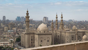 Al苏丹哈桑和Al Rifaii清真寺,开罗,埃及 免版税库存照片