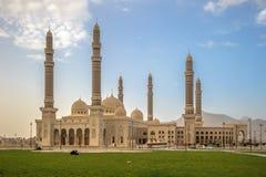 Al萨利赫清真寺在萨纳,也门 库存照片