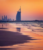 Al阿拉伯海滩burj迪拜旅馆jumeirah 免版税库存图片