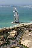 Al阿拉伯burj世界 库存照片