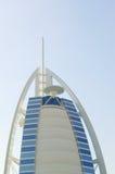 Al阿拉伯burj旅馆日落 库存照片