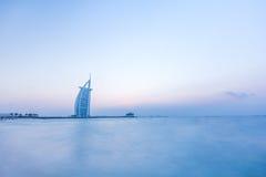 Al阿拉伯burj日落 迪拜,阿拉伯联合酋长国- 15/NOV/2016 免版税图库摄影