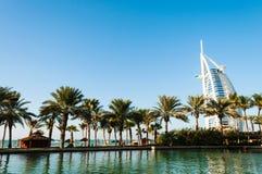 Al阿拉伯burj迪拜旅馆jumeira阿拉伯联合酋长国 免版税库存图片