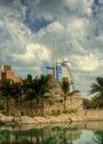 Al阿拉伯burj hdr 免版税库存图片