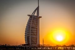 Al-αραβικό ξενοδοχείο Burj, Ντουμπάι, Ηνωμένα Αραβικά Εμιράτα Στοκ εικόνες με δικαίωμα ελεύθερης χρήσης