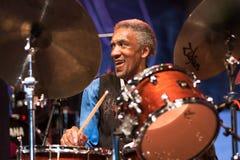 Al приёмный живет на джазовом фестивале Nisville, 11-ое августа 2017 Стоковое Изображение