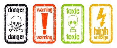 προειδοποιήσεις γραμμ&al Στοκ εικόνες με δικαίωμα ελεύθερης χρήσης