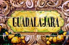 σημάδι του Γουαδαλαχάρ&al Στοκ Εικόνες