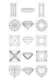 το διαμάντι συλλογής δι&al Στοκ φωτογραφία με δικαίωμα ελεύθερης χρήσης