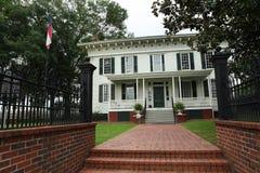 南部邦联蒙加马利AL的第一白宫 库存照片