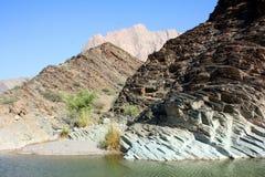 Al-Achdar del al-Dschabal (Al Hajar) #3: Waterbed en la montaña verde Fotografía de archivo