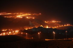 Al-Ain City. Hafeet Mountain at Night Jabal Hafeet Stock Image