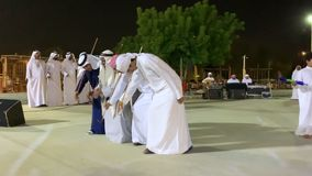 Emirati men dancing stock video footage