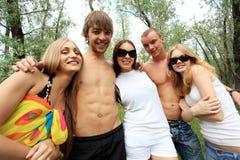 Al aire libre con los amigos Imagen de archivo libre de regalías