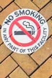Al aire libre de tierra de no fumadores de la señal de peligro Fotografía de archivo libre de regalías