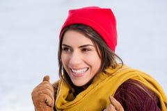 Al aire libre, en invierno nevoso frío Fotos de archivo libres de regalías