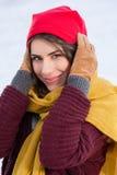 Al aire libre, en invierno nevoso frío Imagen de archivo libre de regalías