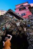 Al aire libre escenas en Nápoles, región del Campania, Italia de la natividad fotos de archivo libres de regalías