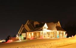 Al aire libre luces de la Navidad Imagen de archivo