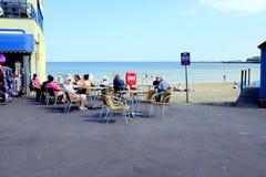 Al aire libre por la playa, Weymouth, Dorset, Reino Unido Fotografía de archivo libre de regalías