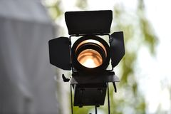 Al aire libre usado reflector profesional de la iluminación Fotos de archivo