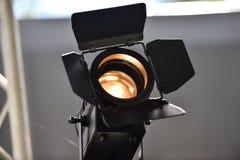 Al aire libre usado reflector profesional de la iluminación Imágenes de archivo libres de regalías