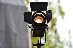 Al aire libre usado reflector profesional de la iluminación Imagenes de archivo