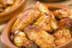 Al Ajillo Pollo - φτερά κοτόπουλου σκόρδου Στοκ εικόνα με δικαίωμα ελεύθερης χρήσης