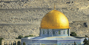 Al-aks Mosque of the Dome of the Rock, old Jerusalem, Israel Royalty Free Stock Photos