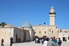 Al Aksa meczet Jerozolima, Izrael - - Świątynna góra - Obrazy Stock