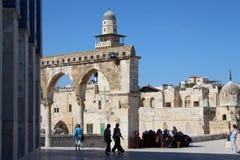 Al Aksa meczet Jerozolima, Izrael - - ?wi?tynna g Fotografia Stock
