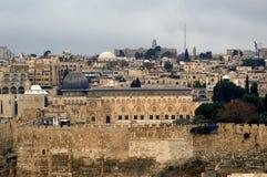 Al Aksa Mosque from Mount of Olives, Jerusalem, Israel Stock Images