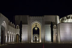 Al Alam Palace by night Stock Photo