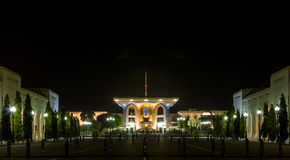 Al Alam Palace at Night Royalty Free Stock Images
