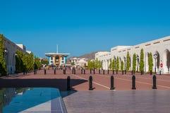 Al Alam Palace van Sultan Qaboos-bak zei in Muscateldruif, Oman Royalty-vrije Stock Foto