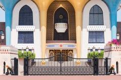 Al Alam slott i Muscat, Oman Arkivbilder