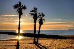 Al amanecer en Valencia Imagenes de archivo