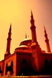 al Amin Beirut w centrum Lebanon meczet Obrazy Stock