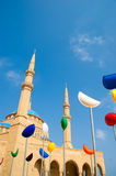 Al Amine Mosque. In beirut with ramdan  decoration Royalty Free Stock Photography