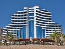 Al aqah海滩旅馆le meridien手段 免版税库存图片