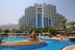 Al aqah海滩le meridien手段 免版税图库摄影