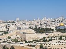 Al Aqsa岩石清真寺的清真寺和圆顶,耶路撒冷 图库摄影