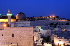 Al Aqsa. Mosque, the third holiest site in Islam, with Mount of Olives in the background in Jerusalem, Israel Stock Photography