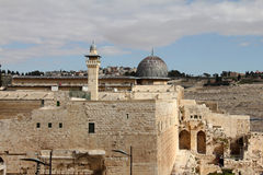 Al Aqsa and   minaret Royalty Free Stock Images