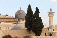 Al Aqsa and   minaret Royalty Free Stock Image