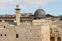 Al Aqsa and   minaret Stock Photos