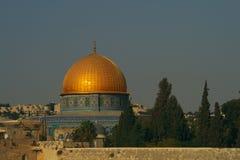 Al-Aqsa Mosque. Scenic view of golden dome of Al-Aqsa mosque in Jerusalem, Israel Stock Photos